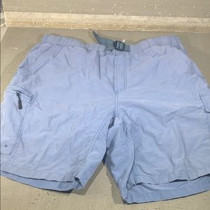 Columbia mens cargo belt shorts sky blue